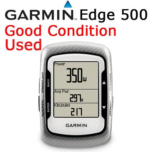 Garmin Edge 500 GPS Computer Device + Mount Silver / Black