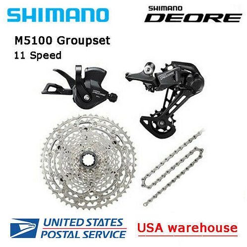 New SHIMANO Deore M5100 11 speed Drivetrain Groupset 42T/51T MTB