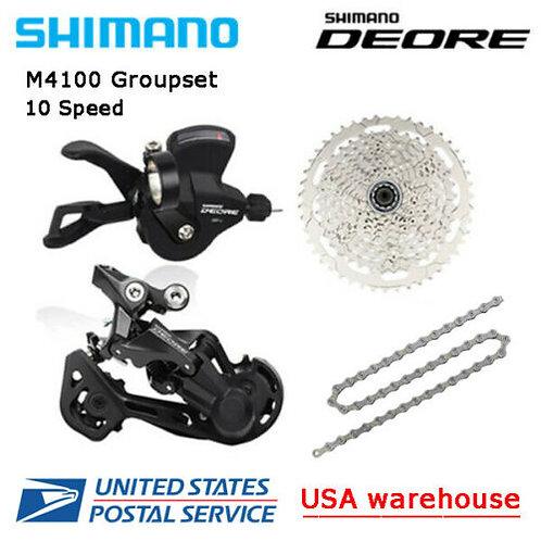 New Shimano Deore M4100 10 Speed Drivetrain Groupset 42T 46T MTB (OE)