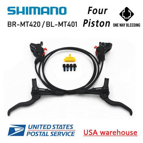 New SHIMANO 4-Piston BR-MT420 BL-MT401 Hydraulic Disc Brake Set F&R MTB (OE)