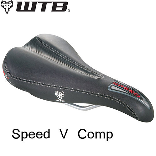 WTB Speed V Comp Saddle 129 Black CroMro Rails Road Bike MTB