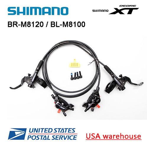 SHIMANO XT BL-M8100 BR-M8120 4 Pistons Disc Ice Tech Brake Set