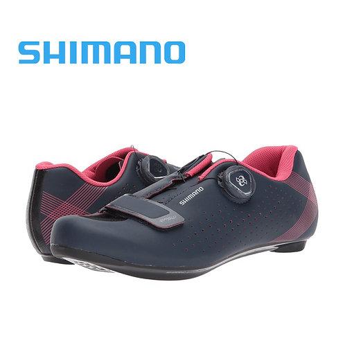 2018 Shimano SH-RP5 Women Road Shoes Black White BOA SPDSL
