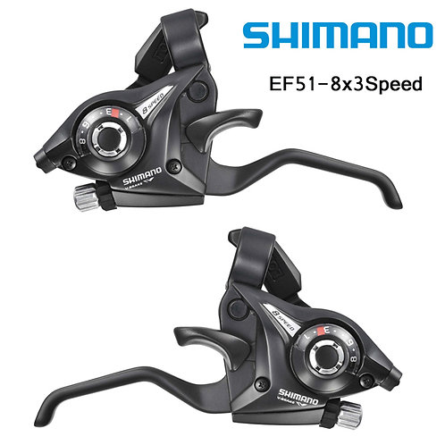 Shimano ST-EF51-8 3x8-Speed Brake Shifters Lever Trigger L+R set with Cable
