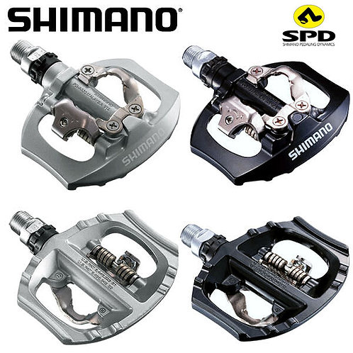 Shimano PD-A530 Clipless Pedal with SPD Cleats Road Bike MTB Silver Black