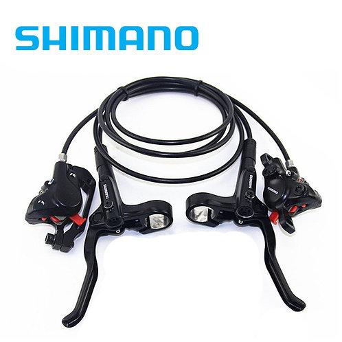 Shimano BR BL MT200 Disc Brake Set Front & Rear G3 HS1 RT56 Rotor Black MTB