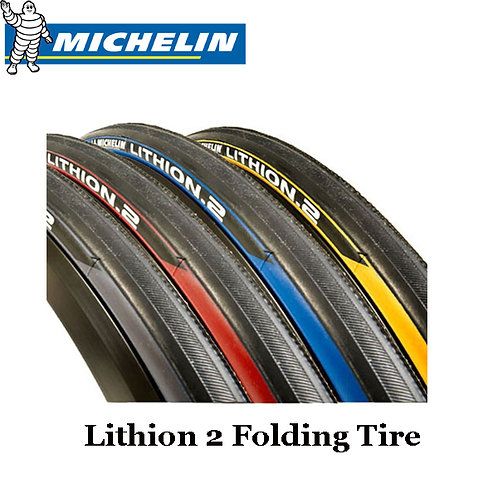 Michelin Lithion 2 Road Bike Folding Tire Red Blue Yellow 700c x 23c 1pc