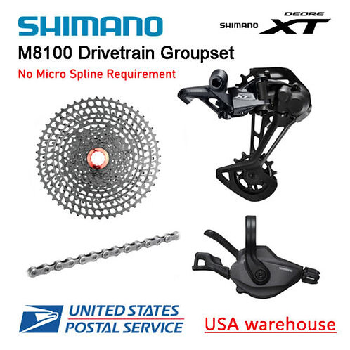 Shimano Deore XT M8100 12 Speed Drivetrain Groupset Bolany 50T Cassette (OE)