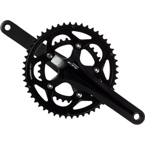78e7ad039ca Shimano 105 FC 5800 Front Crankset 11 Speed Road Bike Black 39/53 Teeth  Double