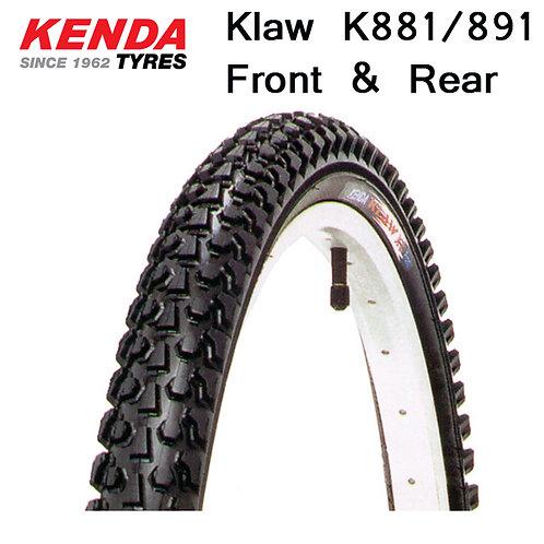 """Kenda Klaw XT Front (K881) & Rear (K891) 26"""" x 1.95 in Wire Bead Tire"""