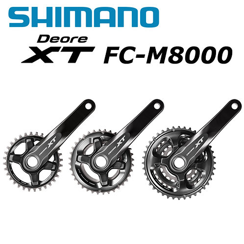 Shimano DEORE XT M8000 33-Speed Crankset 40-30-22T 170/175mm Mountain Bike MTB