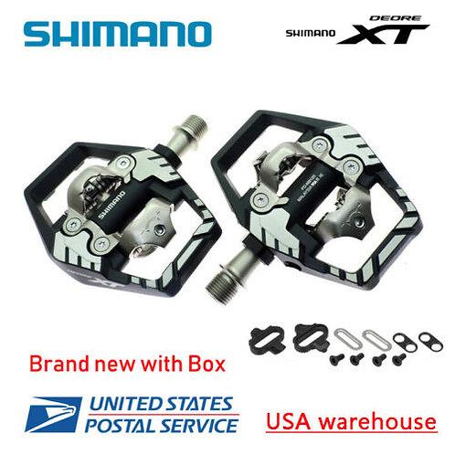 2019 Shimano Deore XT PD-M8120 SPD MTB Trail Pedals Clipless w/ SM-SH51 PD-M8020