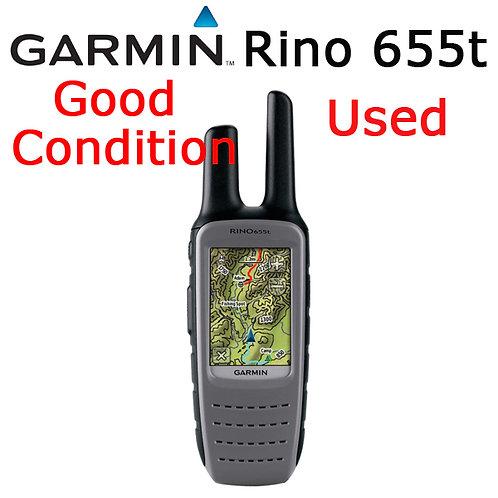 Garmin Rino 655t GPS Handheld 5 Watt 2-way Radio and GPS Navigator
