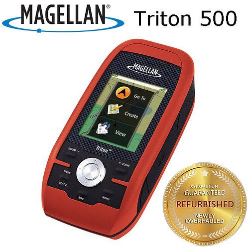 "Magellan Triton 500 2.2"" Handheld Portable GPS IPX7 North America Basic Map"
