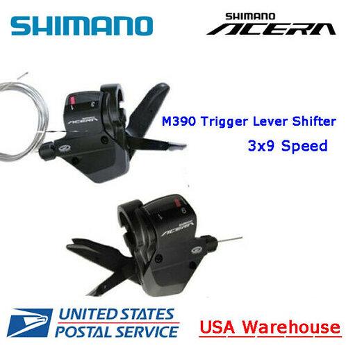 SHIMANO ACERA SL-M390 3x9 Speed Trigger Shifter levers Set L+R Black