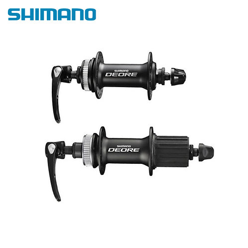 Shimano DEORE M615 Front & Rear Hub Set 32 Holes with QR Black