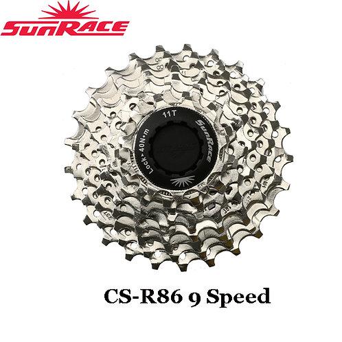 New Sunrace CS-R86 9 Speed Road Bike Cassette 11-25T 11-28T Silver