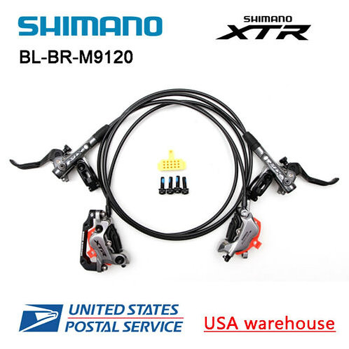New SHIMANO XT BL-BR-M9120 4 Pistons Hydraulic Disc Ice Tech Brake Set F&R OE