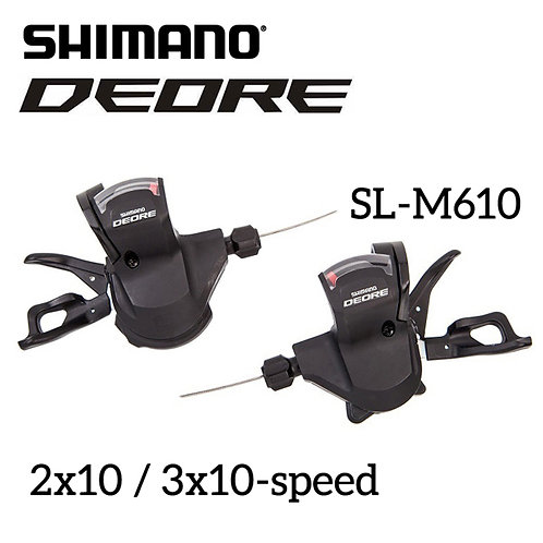 Shimano Deore SL- M610 2x10 3x10-Speed Shifter Levers Cable Set Rapidfire