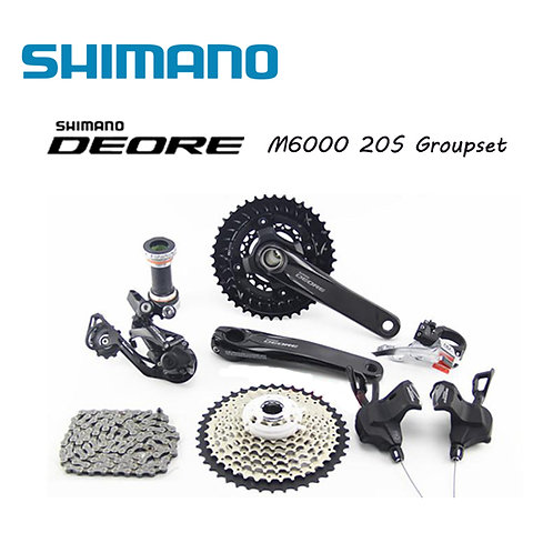 Shimano Deore M6000 Hydraulic Disc Brake Groupset Group Set 2x10-speed