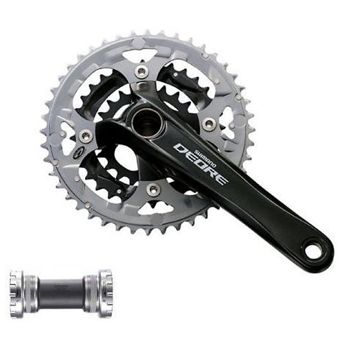 Shimano DEORE M590/591 Crankset Mountain Bike 9 Speed with Bottom Bracket