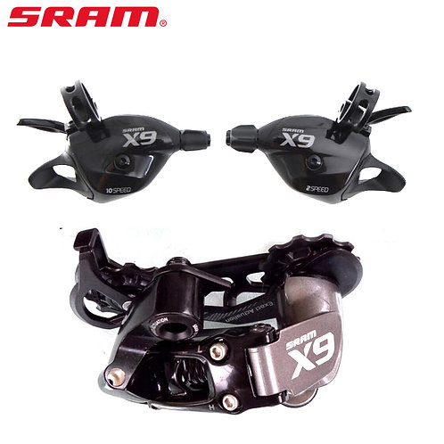 SRAM X9 2 x 10 Speed Mini Groupset Shifter Set with Rear Derailleur Medium Cage