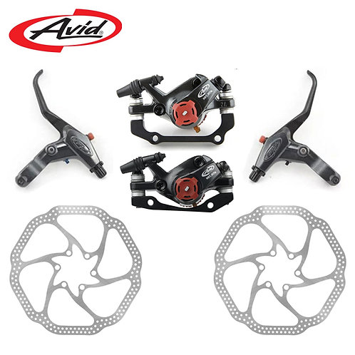 AVID BB7 Mountain Bike Disc Brakes Caliper + FR7 Brake Lever + 160mm HS1 Rotors