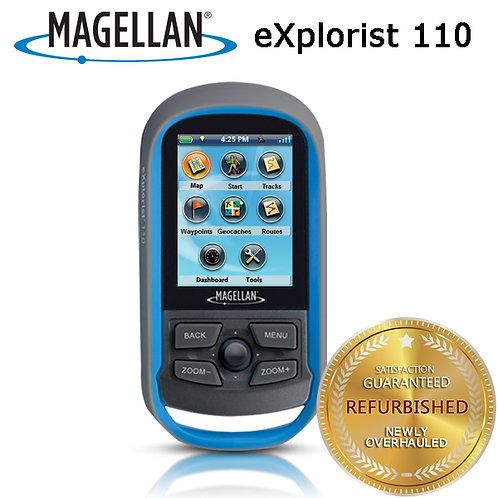 "Magellan eXplorist 110 2.2"" Handheld Portable GPS IPX7 World Map GeoCache"