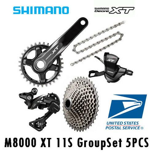 Shimano DEORE XT M8000 11 Speed Groupset Cassette 40T/42T/46T 170/175mm 6PCS