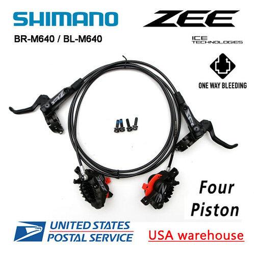 SHIMANO ZEE BL-BR-M640 4 Pistons Hydraulic Disc Ice Tech Brake Set Downhill (OE)