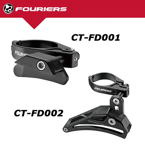 New FOURIERS CT-FD001 FD002 Seat Tube Clamp Chain Guide Alloy 34.9/31.8mm Black