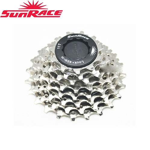Sunrace CS-R86 8 Speed Road Bike Cassette 11-23T 12-25T Silver