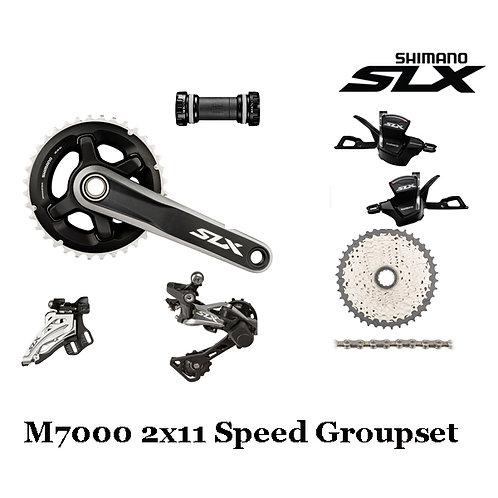Shimano SLX M7000 22 Speed Groupset 40T/42T With Brake set