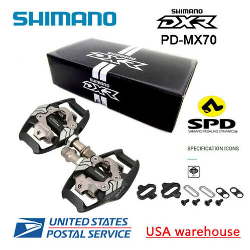 New Shimano DXR PD-MX70 SPD BMX Racing Pedals Clipless SM-SH51 cleat