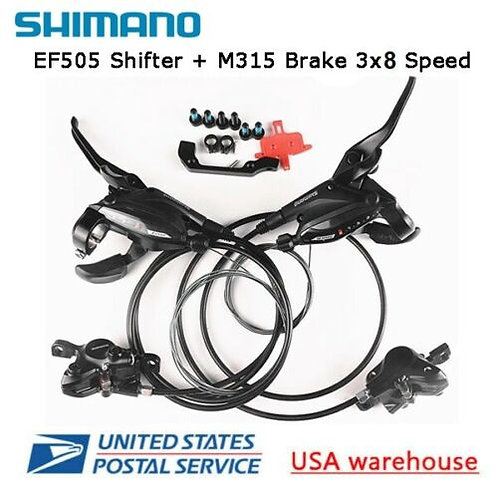Shimano ST-EF505 + BR-M315 3x8 Speed Shift/Brake Lever Hydraulic Disc Brake Set