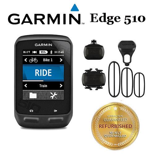 Garmin Edge 510 GPS Computer Device + Mount + Bike Speed and Cadence Sensor