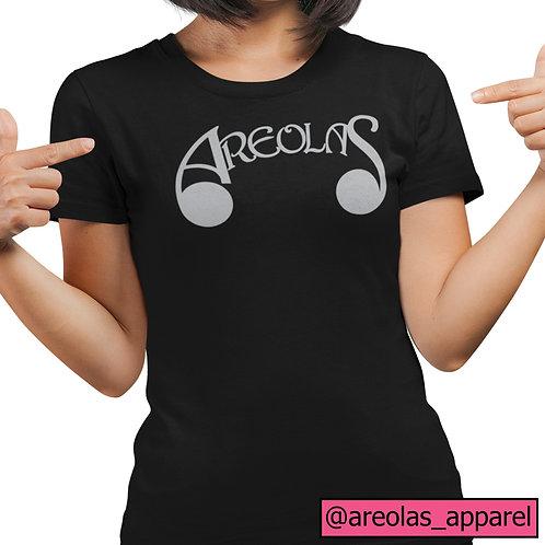 Areolas Apparel Signature Tee | Ladies Fit | 100% Organic Cotton | Black/Pink