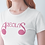 Thumbnail: Areolas Apparel Signature Tee | Ladies Fit | 100% Organic Cotton | White/Black