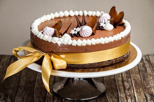 Szilvás-marcipános étcsokoládé torta