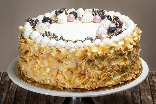 Túró torta választott gyümölccsel (Cukormentes)