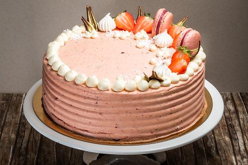 Mascarpone torta választott gyümölccsel (Cukormentes)