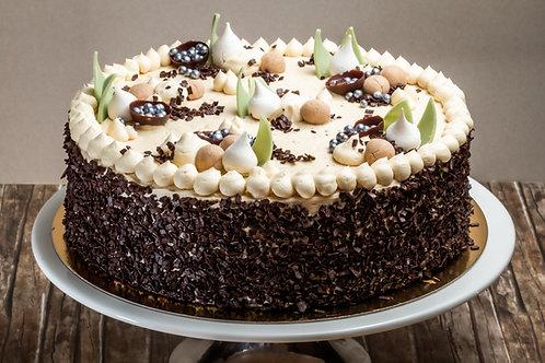 Gesztenye torta (Főzött krémes)