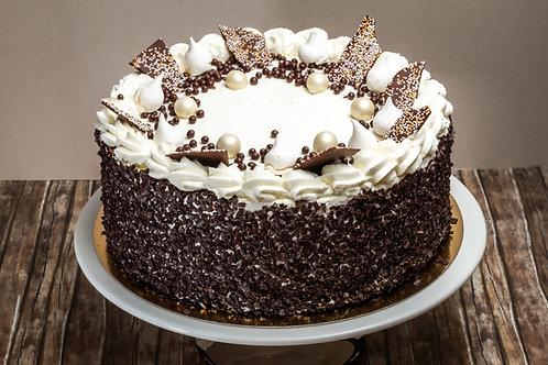 Túró torta csokoládéval (Tejszínes alap)