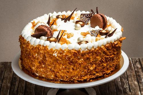 Karamell torta (Tejszínes alap)