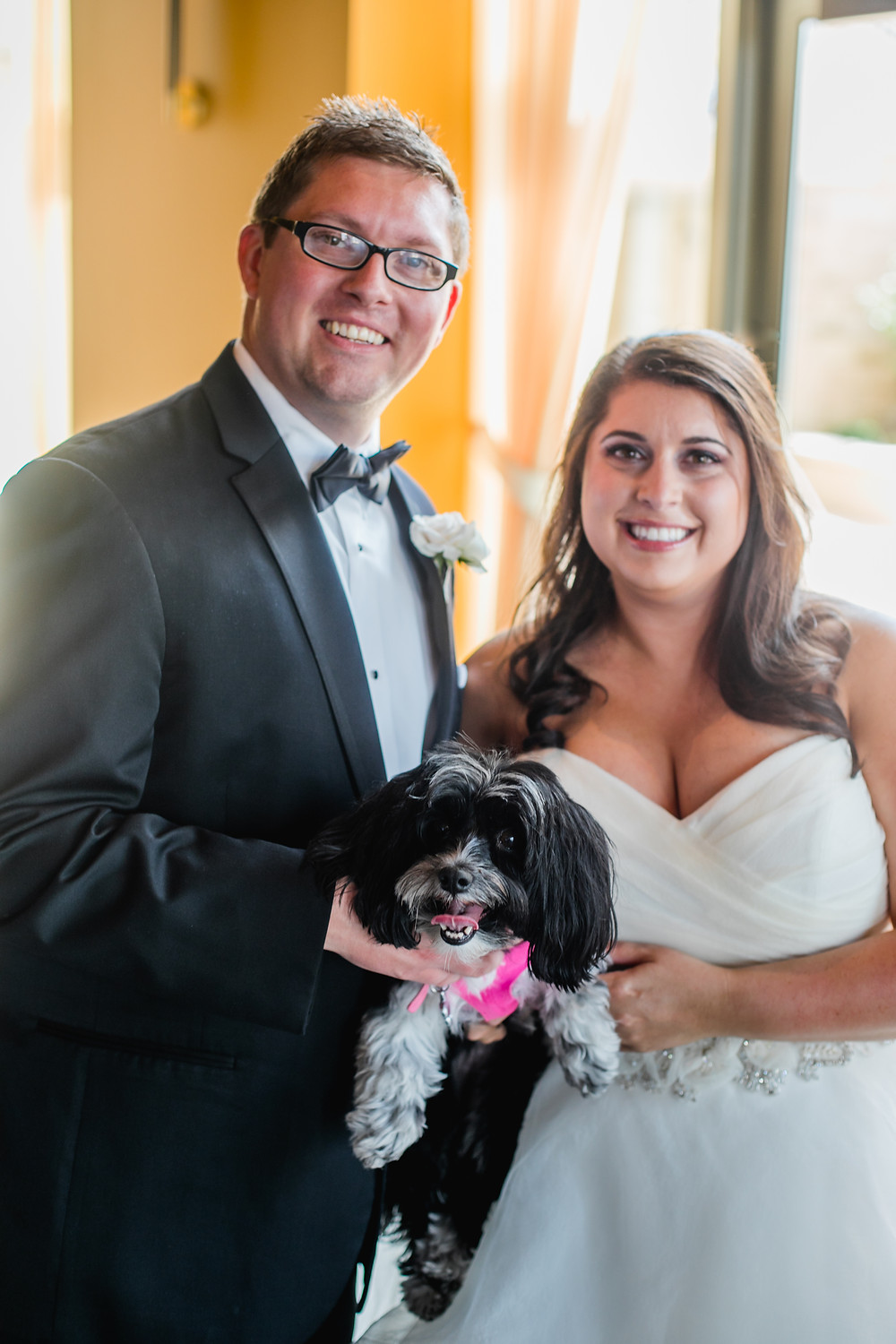 Biscuit was at our wedding!