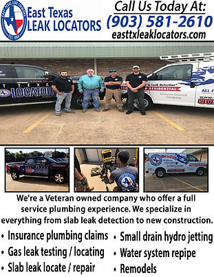 East Texas Leak Locators & Plumbing Serv