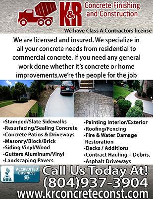 K&R Concrete finishing & Construction LL