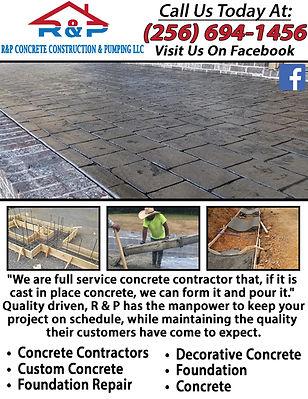 R&P Concrete Construction & Pumping LLC.