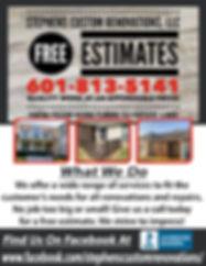 Stephens Custom Renovations LLC Correcti