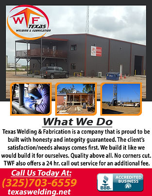 Texas Welding & Fabrication corrections.